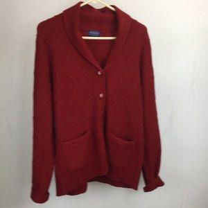 Pendleton Large Red Cardigan Sweater